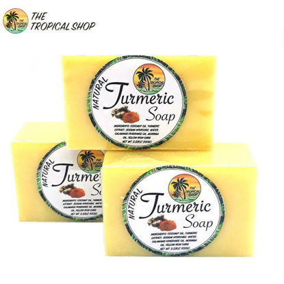 Picture of The Tropical Shop Natural Turmeric Soap Set of 3