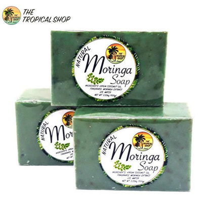 Picture of The Tropical Shop Natural Moringa Soap Set of 3