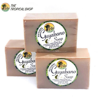 Picture of The Tropical Shop Natural Guyabano Soap Set of 3