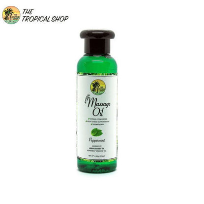 Picture of The Tropical Shop Natural Massage Oil Perppermint 100ml