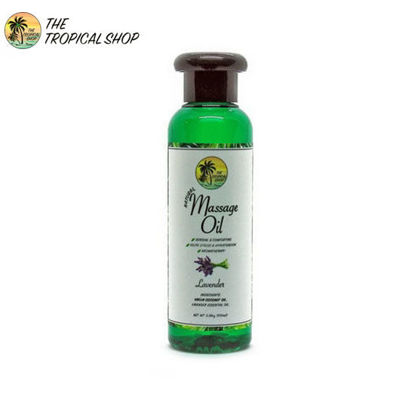 Picture of The Tropical Shop Natural Massage Oil Lavender 100ml