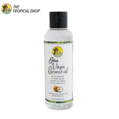 Picture of The Tropical Shop Natural Virgin Coconut Oil 100ml
