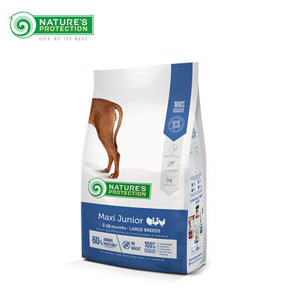 Picture of Nature's Protection Maxi Junior Poultry Dog Food 4kg