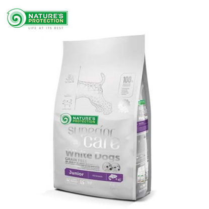 Picture of Nature's Protection SC White Dog Grain Free Salmon Jr. All Breed 1.5K