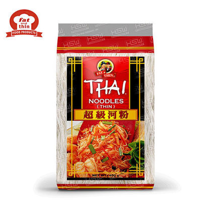 Picture of Fat & Thin Thai Noodle 1Mm (Red) 400G