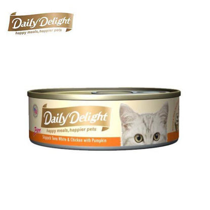 Picture of Daily Delight Pure Skipjack Tuna White & Chicken with Pumpkin 80g