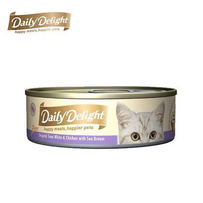 Picture of Daily Delight Pure Skipjack Tuna White & Chicken with Sea Beam 80g