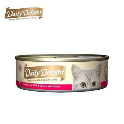 Picture of Daily Delight Pure Skipjack Tuna White & Chicken with Shrimp 80g