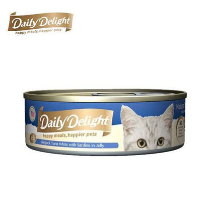 Picture of Daily Delight Skipjack Tuna White with Sardine in Jelly 80g