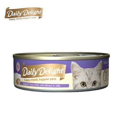 Picture of Daily Delight Skipjack Tuna White with Shirasu in Jelly 80g