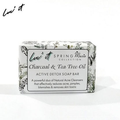 Picture of Luv It Charcoal & Tea Tree Oil Soap Spring Maisee Collection 120g