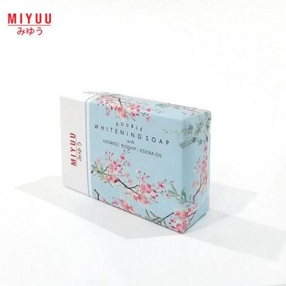 Picture of Miyuu Double Whitening Soap (Licorice,Rosehip, Jojoba) 120g