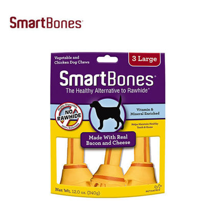 Picture of SmartBones Bacon&Cheese Large 3pk