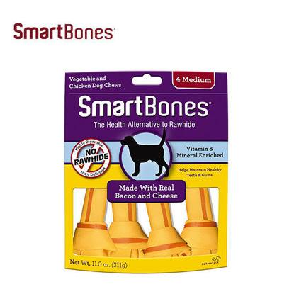 Picture of SmartBones Bacon & Cheese Medium 4pk