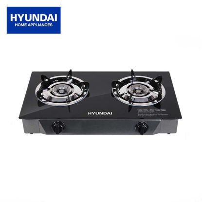 Picture of Hyundai Double Burner Infrared Glass Gas Stove HG-A202G