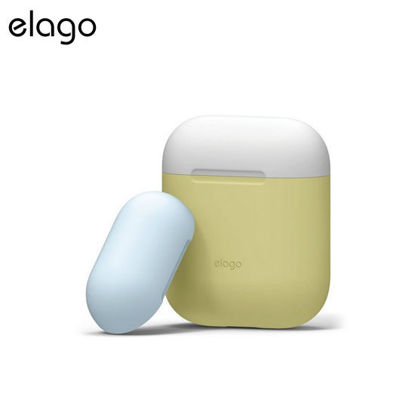 Picture of Elago Airpods Duo Case - Yellow w White/Pastel Blue