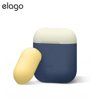 Picture of Elago Airpods Duo Case - Jean Indigo w White/Yellow