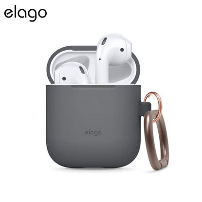 Picture of Elago Carabiner Case for Airpods - Dark Grey