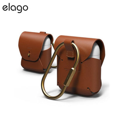Picture of Elago Genuine Cow Leather Case for Airpods - Brown