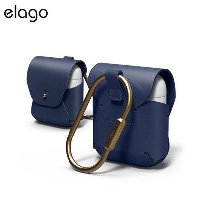 Picture of Elago Genuine Cow Leather Case for Airpods - Jean Indigo