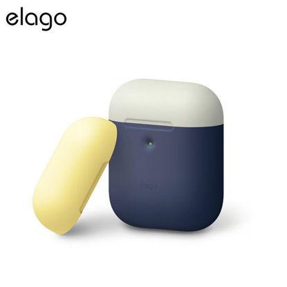 Picture of Elago Airpods 2 Duo Case - Jean Indigo w White/Yellow
