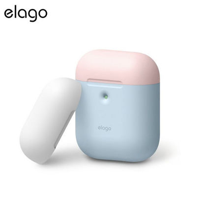 Picture of Elago Airpods 2 Duo Case - Pastel Blue w Pink/White