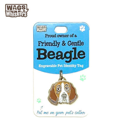 Picture of Wags & Whiskers Pet ID Tag - Beagle