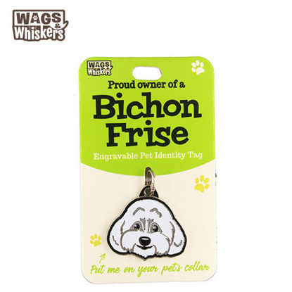 Picture of Wags & Whiskers Pet ID Tag - Bichon Frise