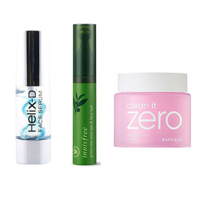 Picture of HELIX-D FACE SERUM 35 ML + Innisfree Green Tea Seed Eye & Face Ball + Banila Co Clean It Zero Cleansing Balm: Original