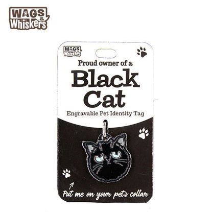 Picture of Wags & Whiskers Pet ID Tag - Black Cat