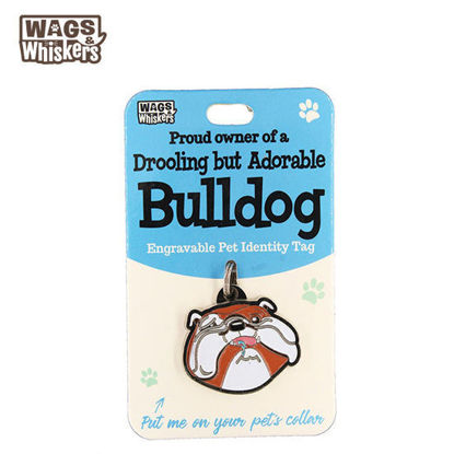 Picture of Wags & Whiskers Pet ID Tag - Bulldog