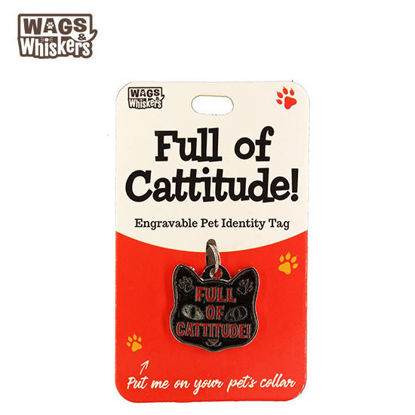 Picture of Wags & Whiskers Pet ID Tag - Cattitude