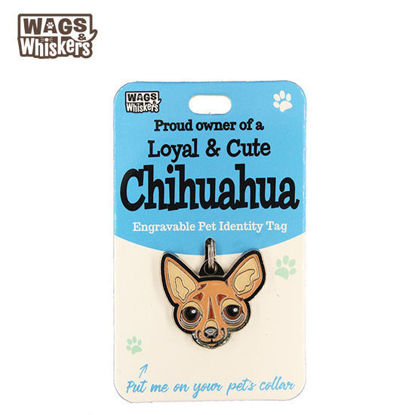 Picture of Wags & Whiskers Pet ID Tag - Chihuahua