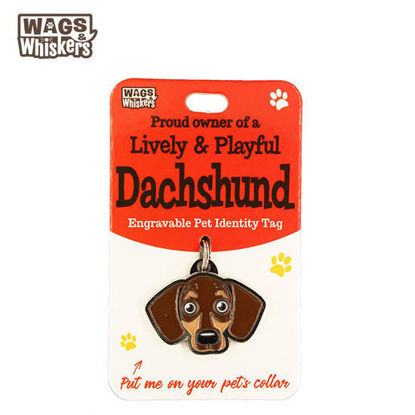 Picture of Wags & Whiskers Pet ID Tag - Dachsund