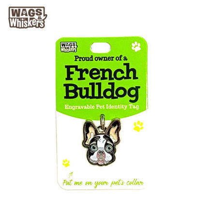Picture of Wags & Whiskers Pet ID Tag - French Bulldog