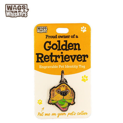 Picture of Wags & Whiskers Pet ID Tag - Golden Retriever