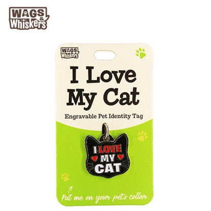 Picture of Wags & Whiskers Pet ID Tag - I Love My Cat