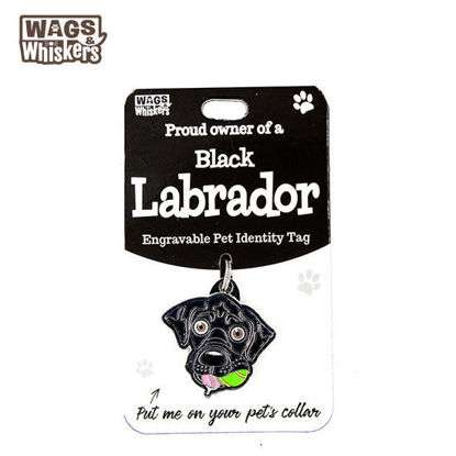 Picture of Wags & Whiskers Pet ID Tag - Labrador Black