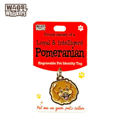 Picture of Wags & Whiskers Pet ID Tag - Pomeranian