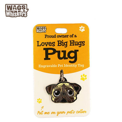 Picture of Wags & Whiskers Pet ID Tag - Pug