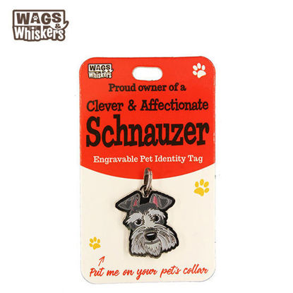 Picture of Wags & Whiskers Pet ID Tag - Schnauzer