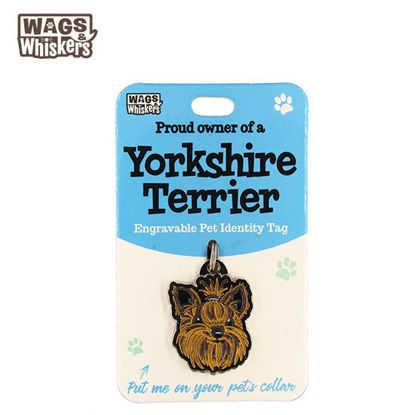 Picture of Wags & Whiskers Pet ID Tag - Yorkshire Terrier