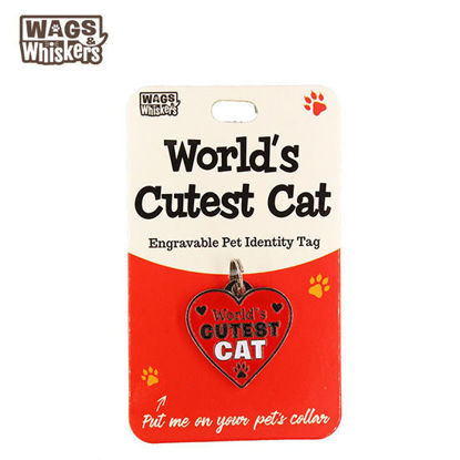 Picture of Wags & Whiskers Pet ID Tag - Worlds Cutest Cat