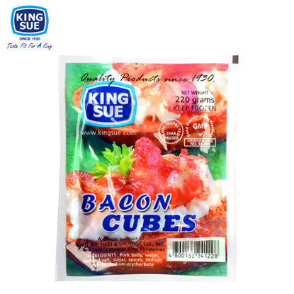 Picture of King Sue Ham & Sausage Co.,  Inc., Bacon Cubes 220g