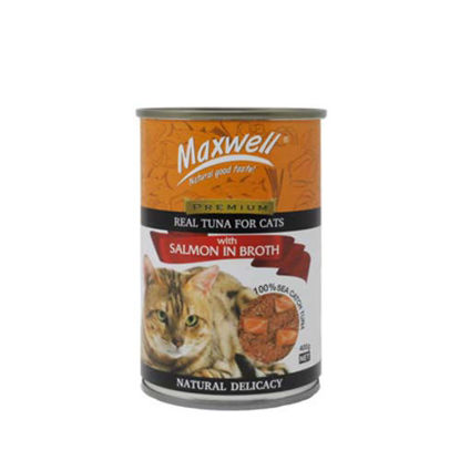 Picture of Maxwell Canned Cat Food Tuna/Salmon in Broth