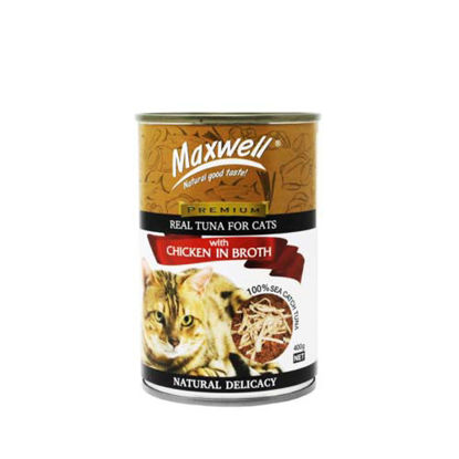 Picture of Maxwell Canned Cat Food Tuna w/ Chicken in Broth