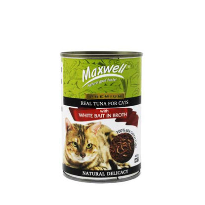 Picture of Maxwell Canned Cat Food Tuna w/ Whitebait in Broth