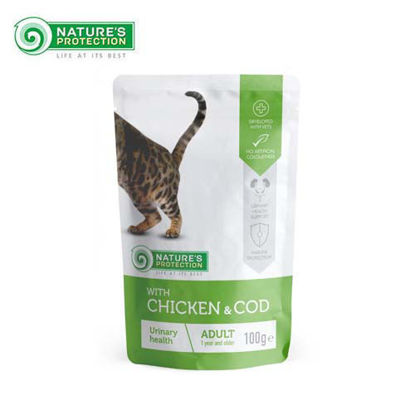 Picture of Nature's Protection Urinary Health Chicken & COD Wet Cat Food Pouch 100g