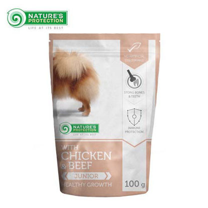 Picture of Nature's Protection Mini Jr. Complete Pet Food w/ Beef & Chiken 100g