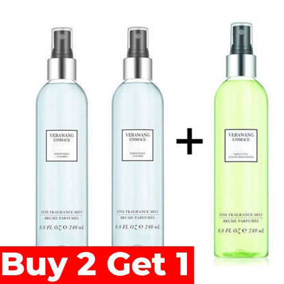 Picture of Vera Wang Embrace Periwinkle and Iris Body Mist 240ml + Vera Wang Embrace Periwinkle and Iris Body Mist 240ml + Free Vera Wang Embrace Green Tea and Pear Blossom Body Mist 240ml